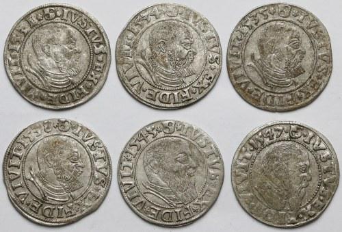 Prusy, Albrecht Hohenzollern, Grosze Królewiec 1531-1547 (6szt)