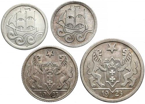 Gdańsk, 1/2 i 1 gulden 1923-1927 (4szt)