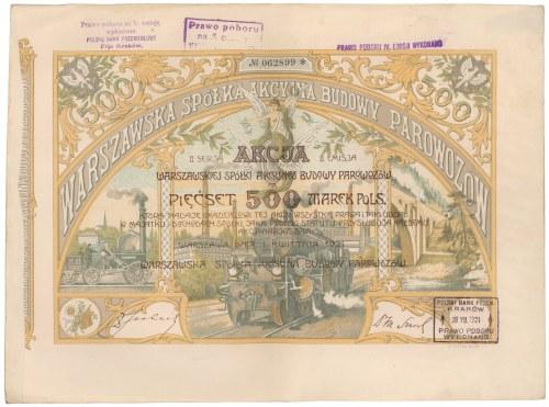 Warszawska Sp. Budowy Parowozów, Em.2, Ser.II, 500 mkp 1921