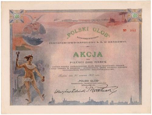 Polski Glob Tow. Transportowo-Handlowe, 500 mkp 1920