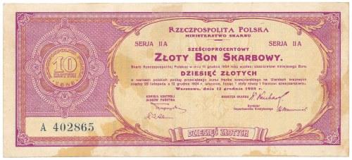 6% Złoty Bon Skarbowy, Serja II A - 10 zł 1923