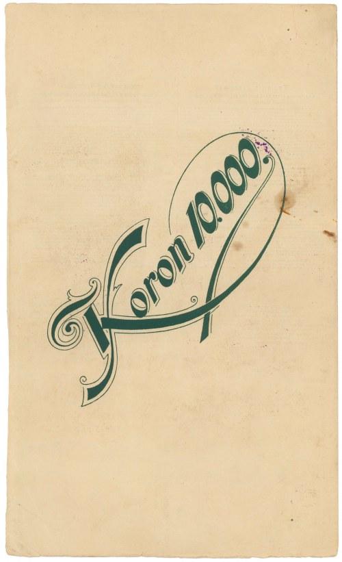 Lwów, Bank krajowy, Obligacja Kolejowa 10.000 kr 1905