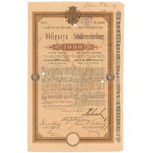 Lwów, Poż. król. stoł. miasta, Obligacja 1.000 kr 1896