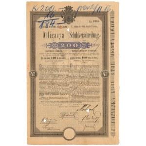 Lwów, Poż. król. stoł. miasta, Obligacja 200 kr 1896