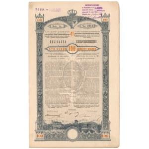 Lwów, Poż. Królestwa Galicyi i Lodomeryi..., Obligacja 100 kr 1893