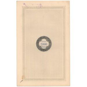 Lwów, Poż. Królestwa Galicyi i Lodomeryi..., Obligacja 2.000 kr 1893