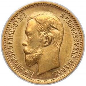 Rosja, Mikołaj II, 5 rubli 1904 AP