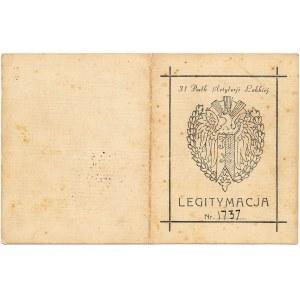 31 Pułk Artylerii Lekkiej, Legitymacja do odznaki