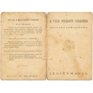 6 Pułk Piechoty Legionów, Legitymacja do odznaki