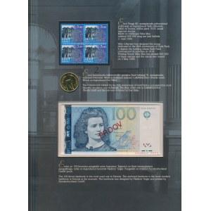 Estonia SPECIMEN 100 Krooni 1999 No.0854 w oryginalnym folderze