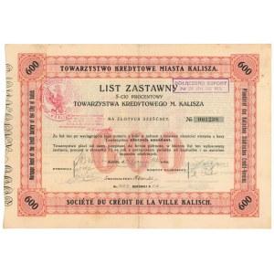 Kalisz, TKM, List zastawny 600 zł 1925