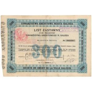 Kalisz, TKM, List zastawny 300 zł 1925