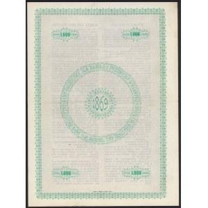 Kraków, Bank galicyjski, List zastawny 1.000 kr 1912