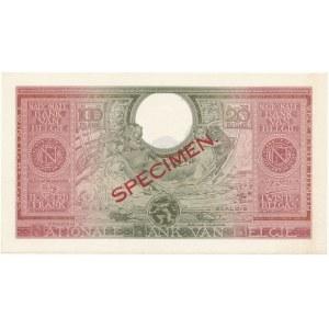 Belgia SPECIMEN 100 Francs-20 Belgas 1943 (1944)