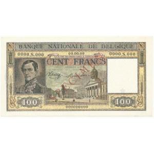 Belgia SPECIMEN 100 Francs (1945-50)