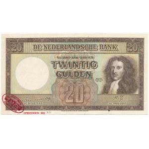Niderlandy SPECIMEN 20 Gulden 1945 - IAA 000000