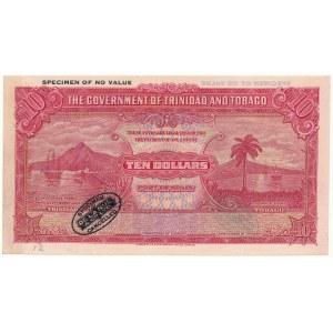 Trynidad i Tabago SPECIMEN 10 Dollars (1935-42)