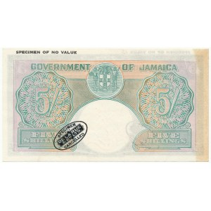 Jamajka SPECIMEN 5 Shillings (1939-58)