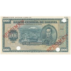 Boliwia SPECIMEN 1.000 Bolivianos 1928