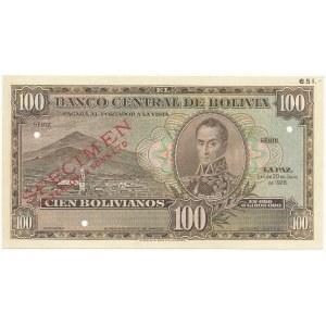 Boliwia SPECIMEN 100 Bolivianos 1928