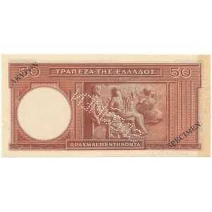 Grecja SPECIMEN 50 Drachmai 1941 (1945)