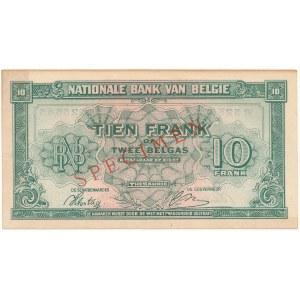 Belgia SPECIMEN 10 Francs-2 Belgas 1943 (1944)
