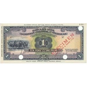 Afryka Południowo-Zachodnia, Namibia SPECIMEN 1 Pound 1931