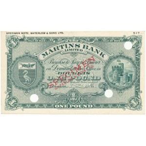 Wyspa Man, Martins Bank Limited SPECIMEN 1 Pound (1946-57)