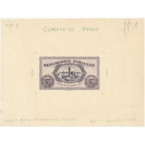 Syria COMPLETE PROOF 5 Piastres 1942