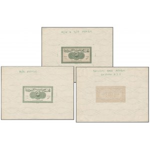 Syria, Full set of 3x BACK PROOFS 5 Piastres 1942