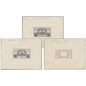 Syria, Full set of 3x FACE PROOFS 5 Piastres 1942
