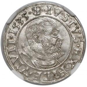 Prusy, Albrecht Hohenzollern, Grosz Królewiec 1535 - PRV