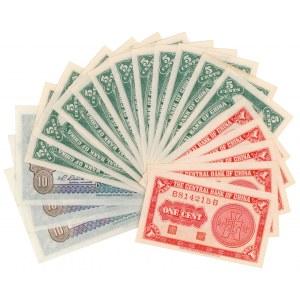 Chiny, 1, 5 i 10 Cents 1931-1939 - zestaw (19szt)