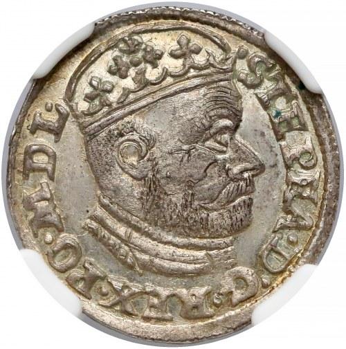 Stefan Batory, Trojak Olkusz 1586 NH - MENNICZY