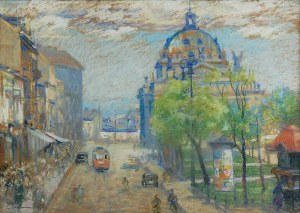 Erno ERB (1890-1943), Lwów z budynkiem Opery