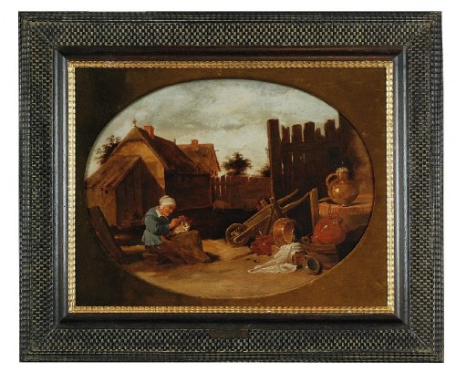 Malarz nieokreślony - krąg Davida II TENIERSA (1610-1690), Na wiejskim podwórku