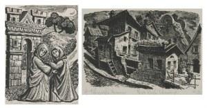 Maria HISZPAŃSKA-NEUMANN (1917-1980), Para drzeworytów