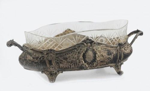 KOCH & BERGFELD (firma czynna od 1859), Żardiniera z wkładem ze szkła