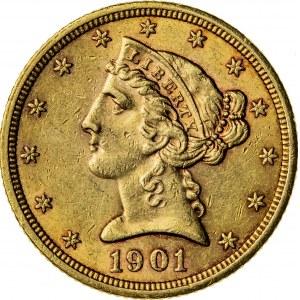 5 dolarów, 1901, S (San Francisco)