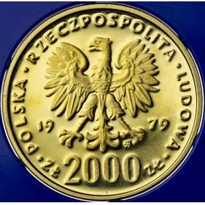 2000 zł, 1979, Mieszko I, Au900, 8g, PRL