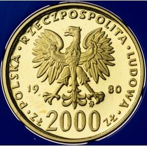2000 zł, 1980, Bolesław I Chrobry, Au900, 8g, PRL