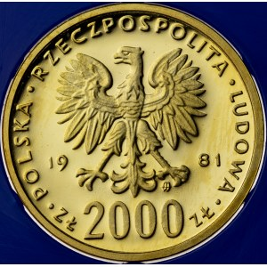 2000 zł, 1981, Władysław Herman, Au900, 8g, PRL