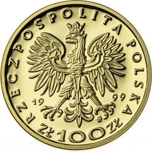 100 zł, 1999, Zygmunt II August, Au900, 8g, III RP