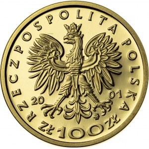 100 zł, 2001, Władysław I Łokietek, Au900, 8g, III RP