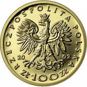 100 zł, 2002, Kazimierz III Wielki, Au900, 8g, III RP