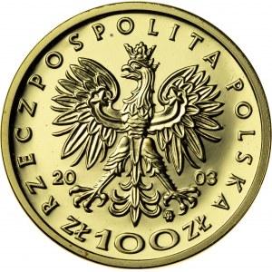 100 zł, 2003, Władysław III Warneńczyk, Au900, 8g, III RP