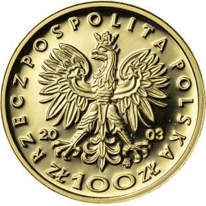 100 zł, 2003, Stanisław Leszczyński, Au900, 8g, III RP