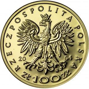 100 zł, 2004, Przemysł II, Au900, 8g, III RP