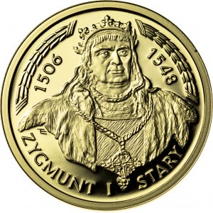 100 zł, 2004, Zygmunt I Stary, Au900, 8g, III RP