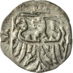 halerz, 1416-1444/1447, Konrad V Kantner lub Konrad VII Biały, Oleśnica, rzadka odmiana